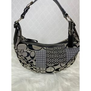Coach Signature Patchwork Jacquard Hobo Bag